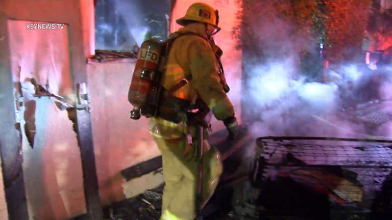 Senior Resident Safe After Fire Spreads Through Bungalows in Hollywood