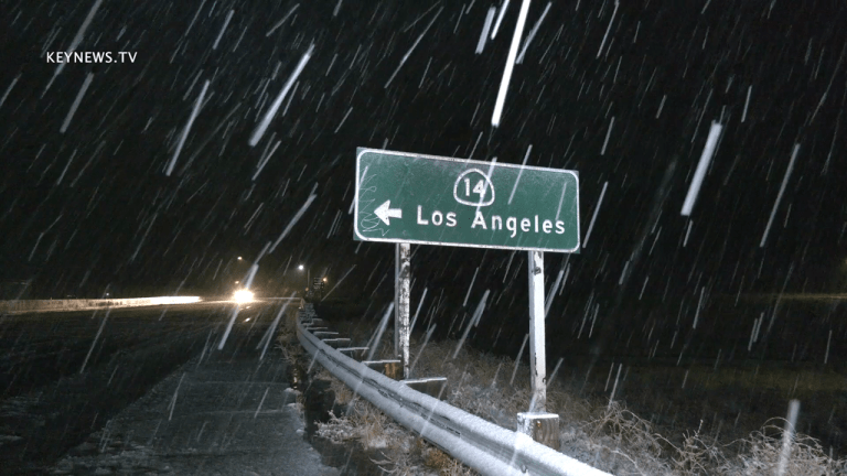 Overnight Snowfall on the 14 Freeway in Acton