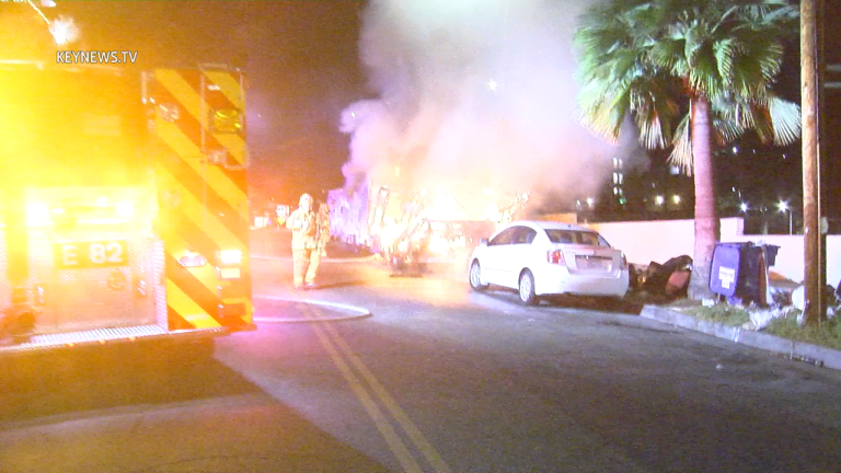 RV Ablaze in Hollywood, Photographer Assaulted Covering Incident
