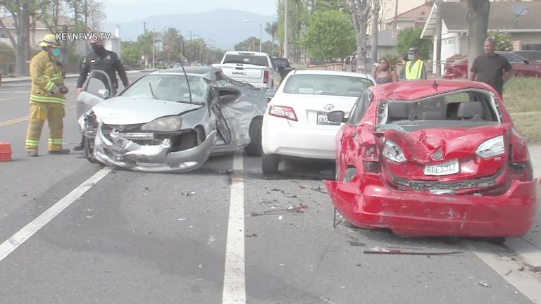 Two Teens Injured in Pomona Crash