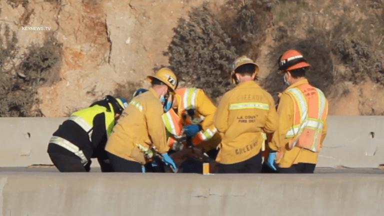 Motorcyclist Injured in Collision on Northbound 14 Freeway