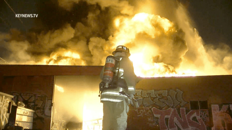 LAFD Battled Greater Alarm Commercial Structure Fire in Historic South-Central