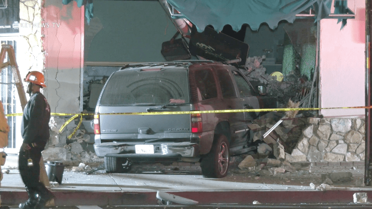 Vehicle Crashes into North Hollywood Flower Shop