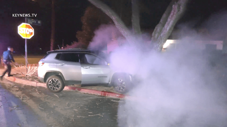 CHP Pursuit Ends with Fiery Crash in Lake Balboa