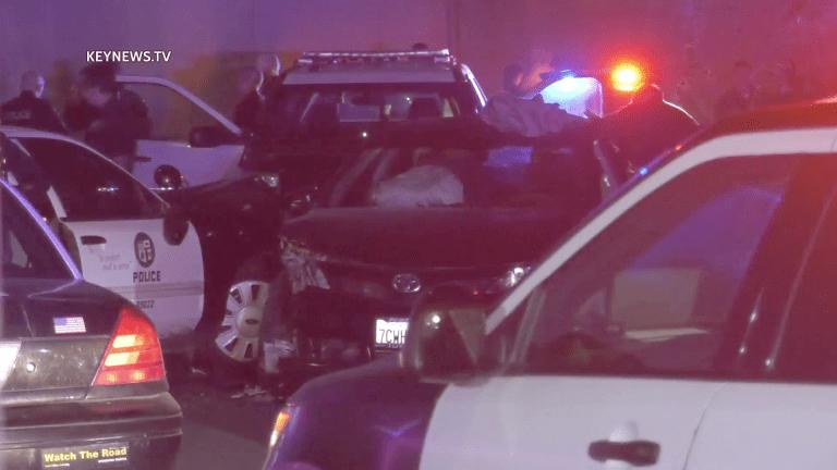 Manchester Square LAPD Grand Theft Auto Suspect Crash