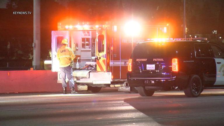 Person Fatally Struck on 10 Freeway in DTLA