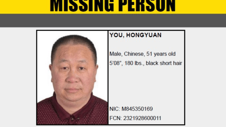 Male Left Guided Tour, Missing Since October