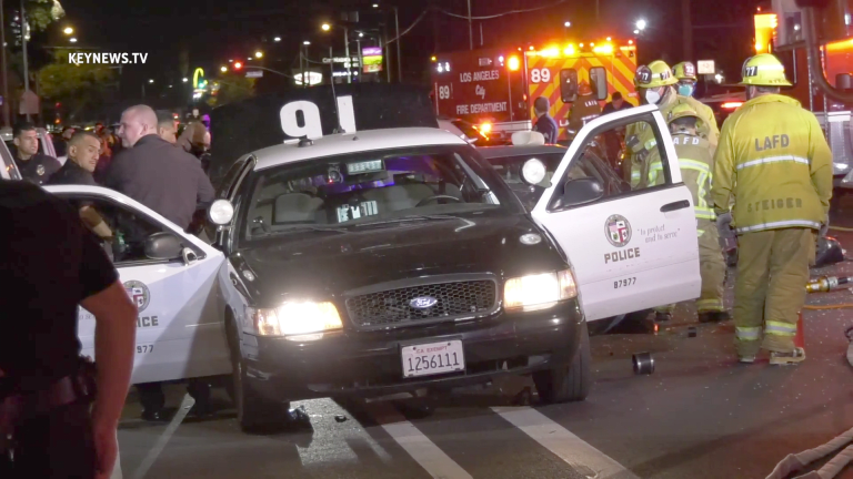 Officer Involved 3-Vehicle Traffic Collision in Sun Valley