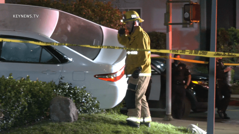 Suspect Vehicle Crashes into Apartment Building After Robbing Home