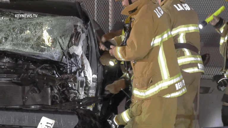 Trapped Male Extricated from 2-Vehicle Collision in Vernon (GRAPHIC)