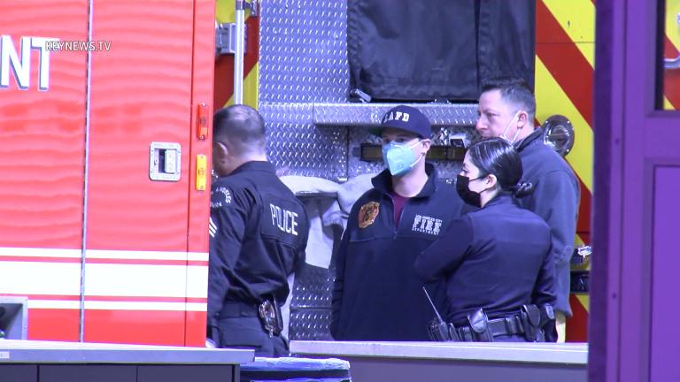LAFD Rescue Ambulance Window Shot in Pico-Union