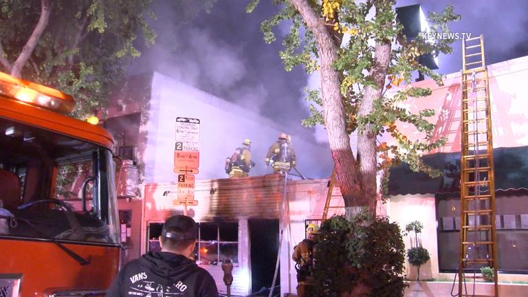 Sherman Oaks Structure Fire