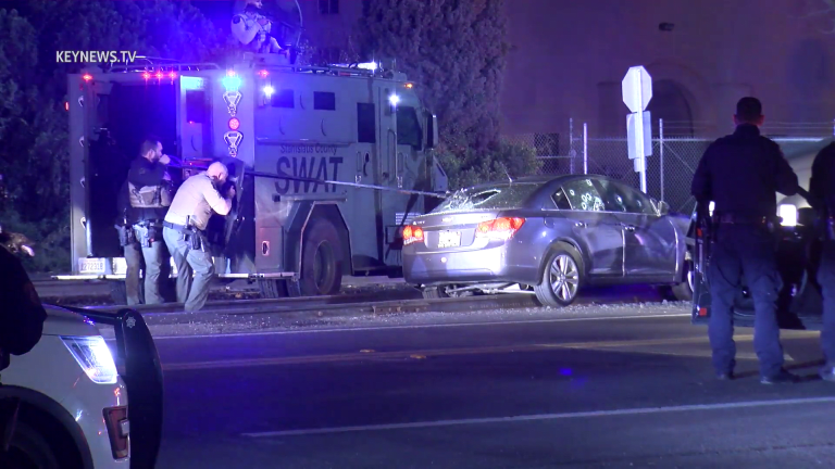 Modesto Stolen Vehicle Pursuit Ends with Less Lethal Force on Suspect