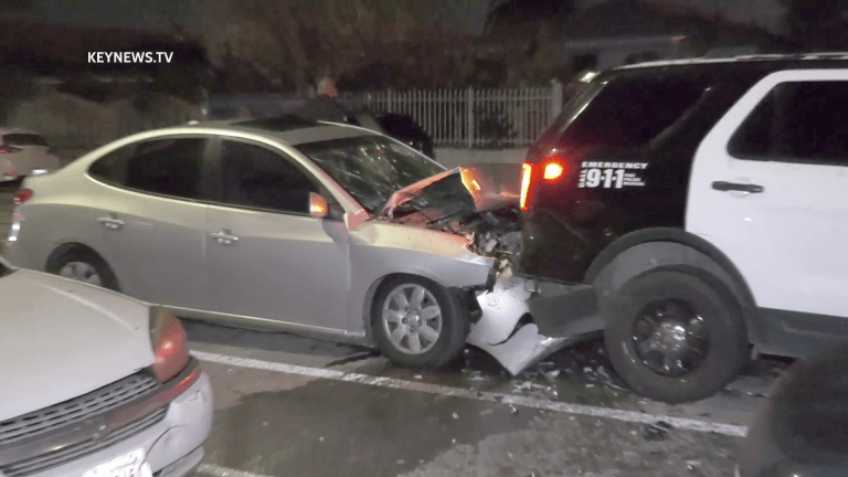 Driver Injured in Collision with LAPD Vehicle (GRAPHIC)