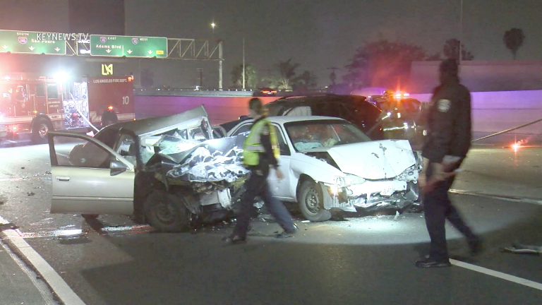 2 Persons Fatally Injured in Wrong Way Collision on 110 Freeway (GRAPHIC)