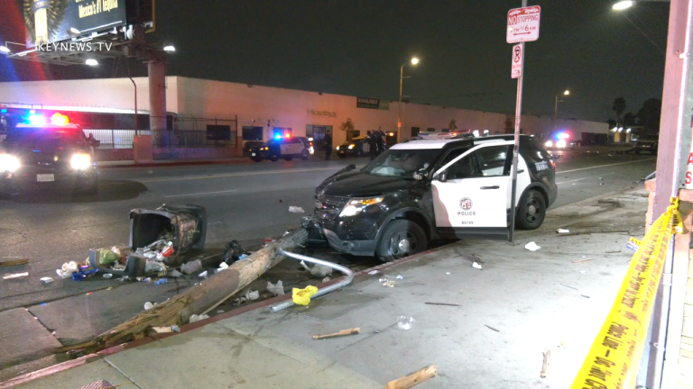 LAPD Involved in Sun Valley Traffic Collision