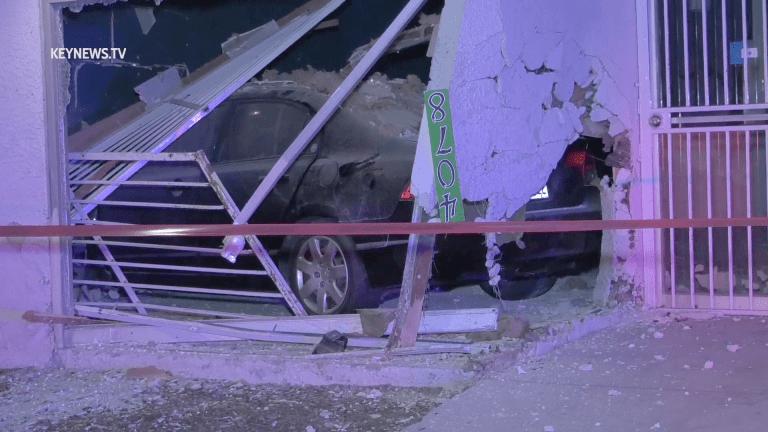 Vehicle Crashes Through Hawthorne Business