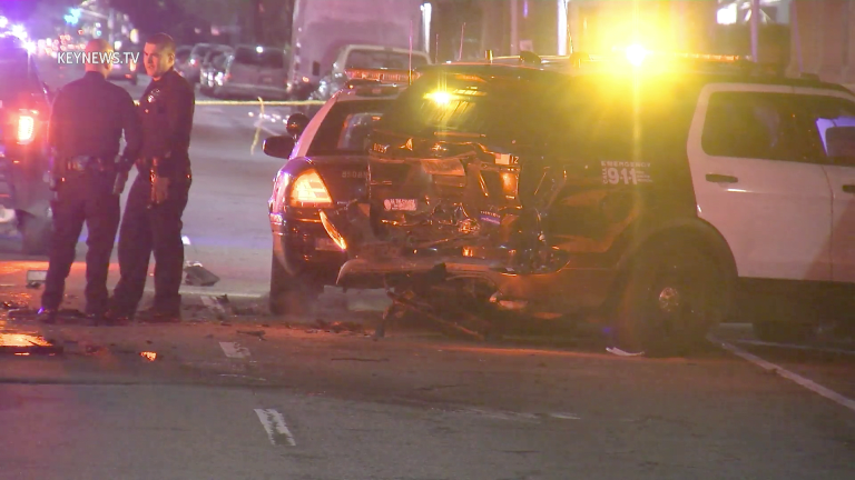 South Los Angeles LAPD Involved Suspected DUI Crash