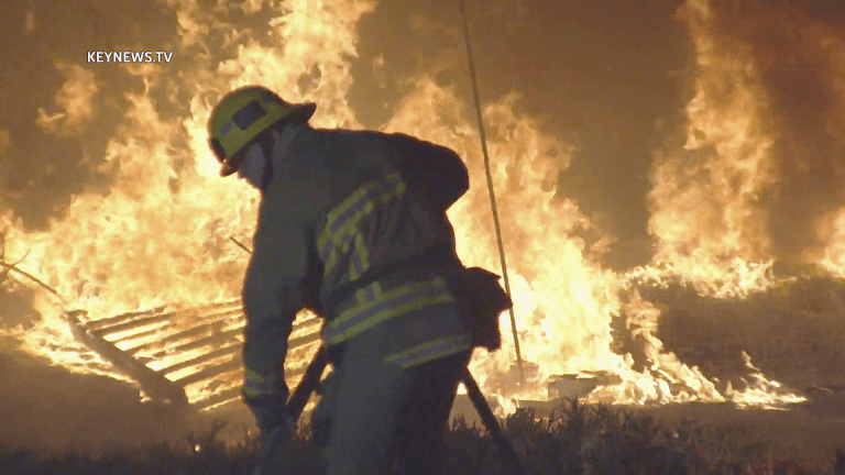 Sun Valley 170  Freeway Trash Fire