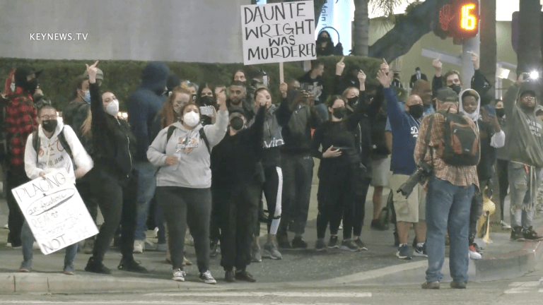Black Lives Matter Protesters Take to the Streets of Hollywood