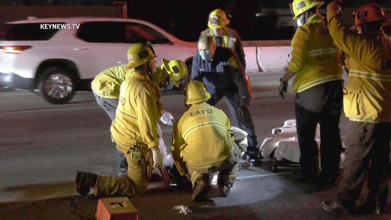 Female Pedestrian Struck, Injured on 210 Freeway (GRAPHIC)