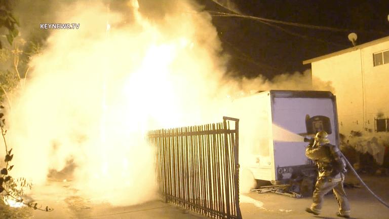 U-Haul Burns in Florence Backyard