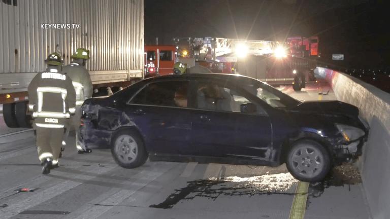 Hit-and-Run Fatality Near Vehicle Crash on 60 Freeway (GRAPHIC)