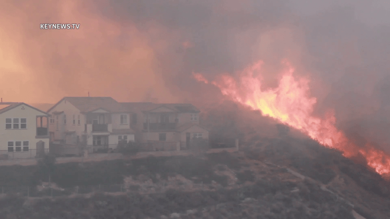 North Fire Burns Close to Homes, Evacuation Issued