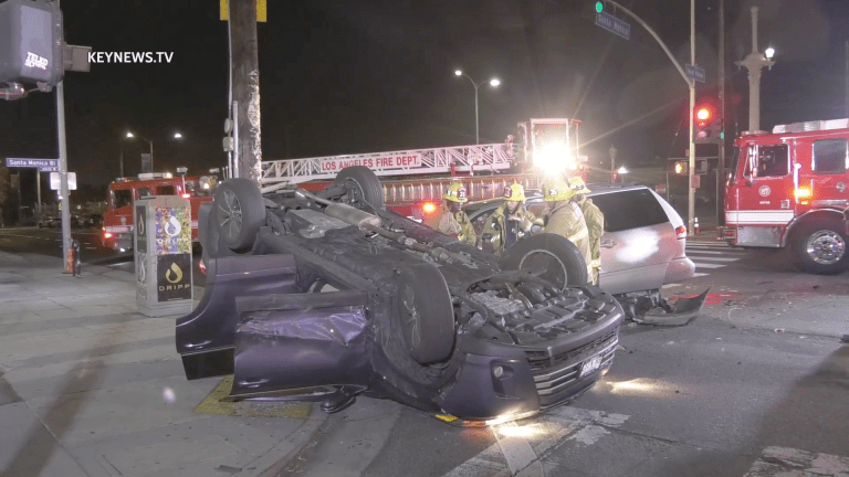 East Hollywood 2-Vehicle Collision with Rollover