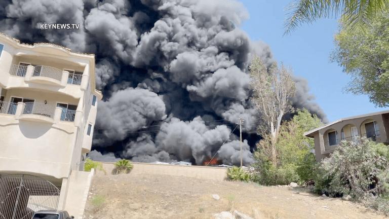 Recreational Vehicles Burn in Canyon Lake Storage Fire