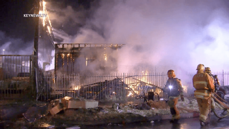 Firefighters Extinguish Flames in Several Units of a Row of Harvard Park Bungalows