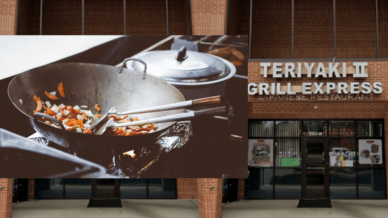 SEVERAL DEAD ROACHES FOUND AT TERIYAKI EXPRESS II IN THE DINING AREA