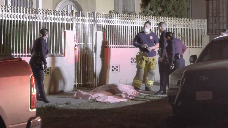 Deceased Person Discovered on East Hollywood Sidewalk