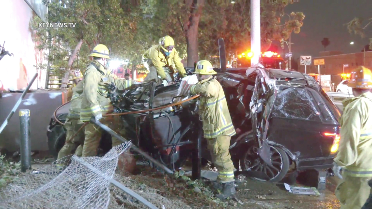 1 Trapped, 1 Cardiac Arrest in 101 Collision at Vermont Off-Ramp (GRAPHIC)