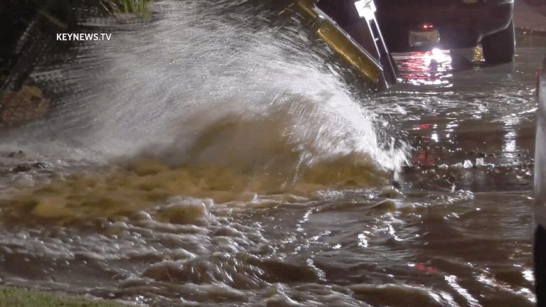 Sherman Oaks Water Main Break Floods Otsego Street