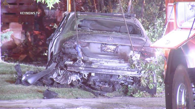 Male Killed in Hancock Park Fiery Car Crash