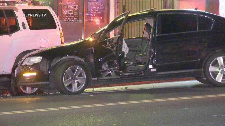 Gunshot Victim Crashes Car into SUV After Shooting in Koreatown Bank Parking Lot