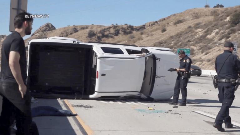 Northbound 14 Freeway Multi-Vehicle Collision, 2 Patients Transported to Hospital