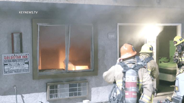 Arson Suspected in Sylmar Hotel Fire