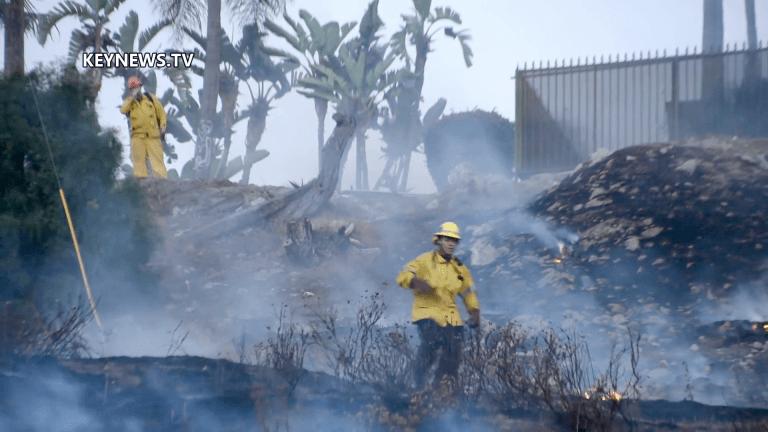 Brush Fire in Pomona Threatens CoCo Palms Restaurant