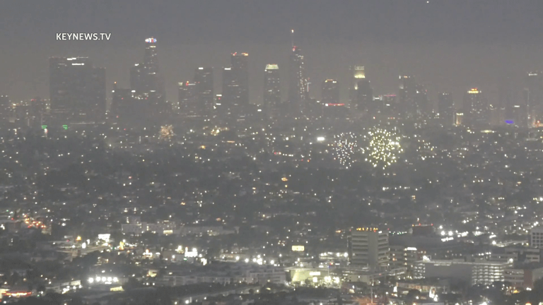 Los Angeles Fireworks View from Griffith Observatory