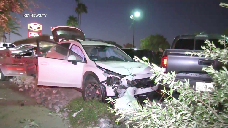 Driver Collides with 6 Vehicles Parked at In-N-Out Burger in Santa Clarita