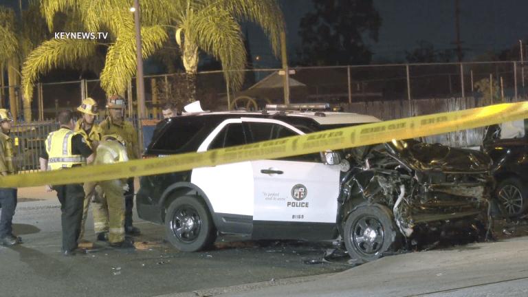 Police Pursuit Ends in LAPD Pacoima Crash
