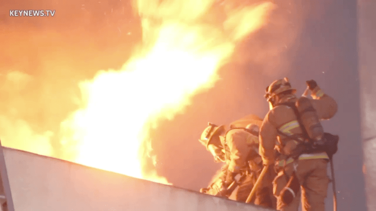 Second-Alarm Furniture Store Fire in Long Beach