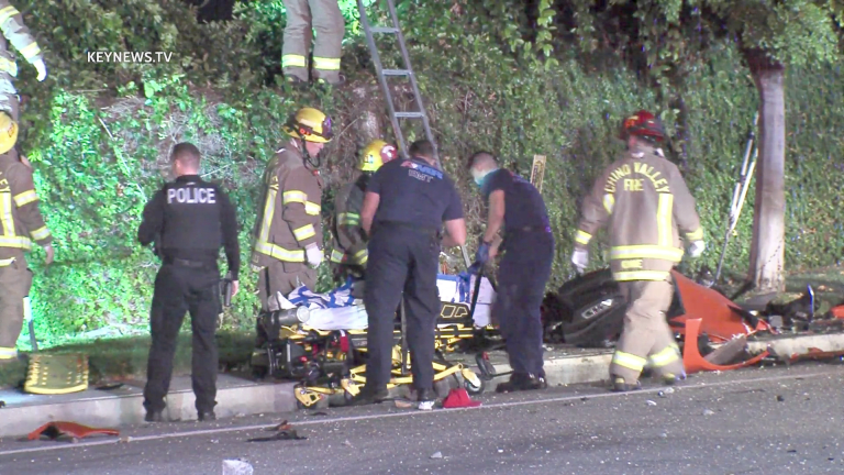 3 People Ejected, 1 Dies in Early Morning Chino Crash (GRAPHIC)