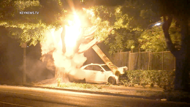 Lincoln Heights Fiery High Voltage Hit-and-Run Crash