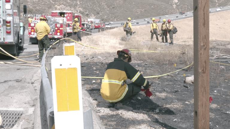 Arson Investigators at Scene of Brush Fire Near Pyramid Lake