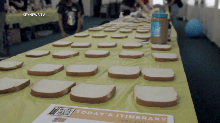 Kids Make Sandwiches to Help Feed the Homeless