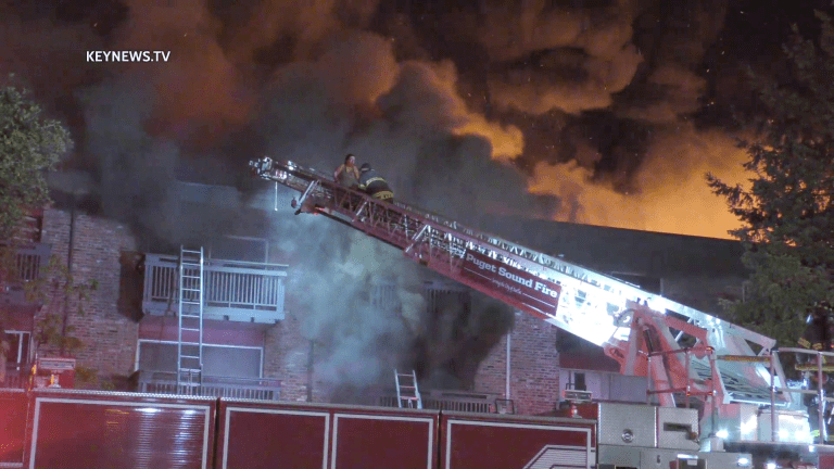 Firefighters Rescue Residents from Smoke Filled Balconies of Burning Apartment Building in Seatac