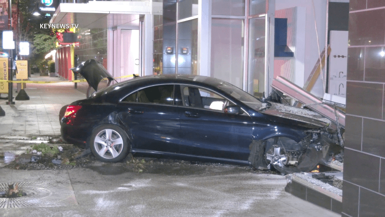Vehicle Slams into Pirch Storefront in Glendale